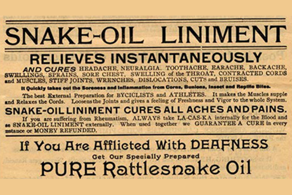 The Internet, The War of Words, and Snake Oil